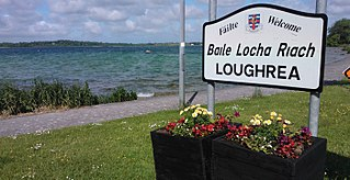 Loughrea Town in Connacht, Ireland