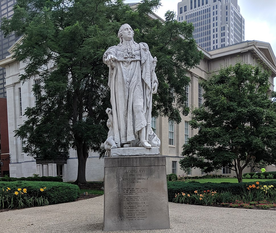 Louis XVI statue, 1827, by Valois, in Louisville, Kentucky
