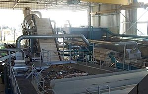 Mechanical biological treatment - Wet material recovery facility, Hiriya, Israel