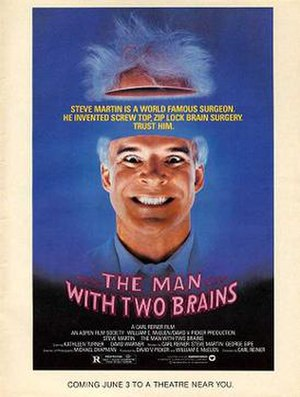 The Man with Two Brains - DVD cover