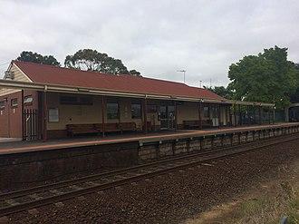 Moe railway station - Station building