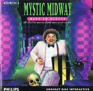The CD-i cover of Mystic Midway: Rest in Pieces