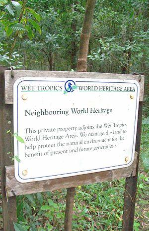 National Reserve System - Sample of Signage, within a Wet Tropics portion of National Reserve System