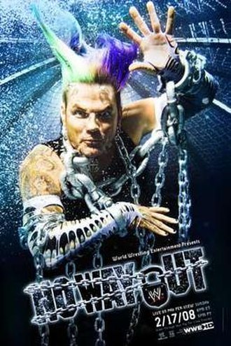 No Way Out (2008) - Promotional poster featuring Jeff Hardy