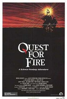 this is the poster for the movie quest of fire