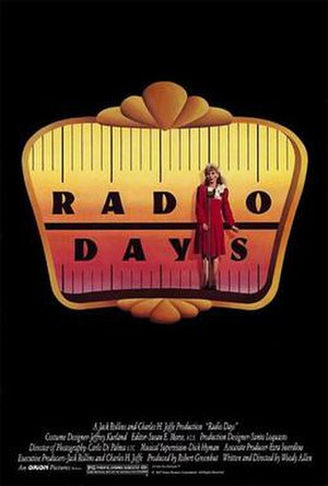 Radio Days - Radio Days theatrical poster