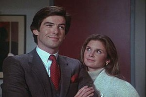 Remington Steele - Pierce Brosnan and Stephanie Zimbalist in Remington Steele.