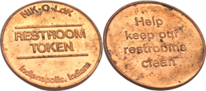 Pay toilet - Restroom token