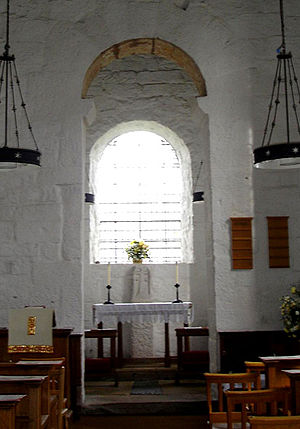Anglo-Saxon Christianity - Typical Saxon altar as seen in Escomb Church.