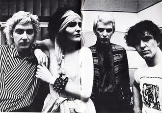 Siouxsie and the Banshees - Siouxsie and the Banshees in 1981, left to right: Budgie, Siouxsie, Steven Severin and John McGeoch