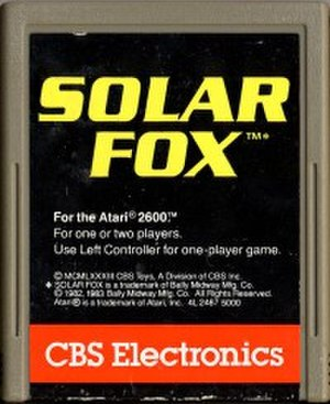 Solar Fox - Atari 2600 cartridge