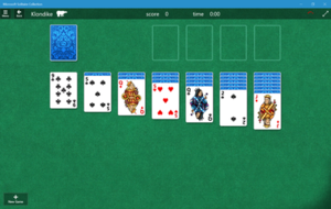 Microsoft Solitaire - Microsoft Solitaire Collection on Windows 10, in Klondike mode
