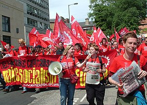 Socialist Party (England and Wales) - Socialist Party on the anti G8 demonstration in Edinburgh