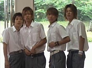 Stand Up! (Japanese TV series) - The four main characters: Shōhei, Kengo, Hayato and Kōji (from left)