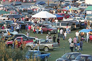 Tailgate party at Javelina football game