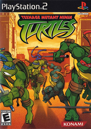 Teenage Mutant Ninja Turtles (2003 video game) - North American PS2 cover art