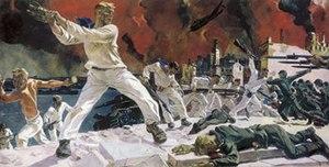 "Naval Infantry (Russia) - Alexander Deyneka, ""The Defense of Sevastopol"", 1942"