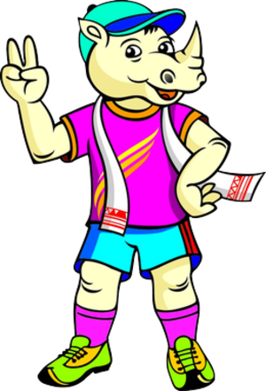 2016 South Asian Games - Tikhor, the official mascot used for the games.