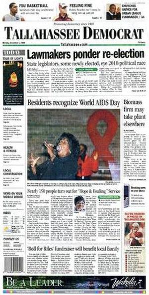 Tallahassee Democrat - Image: Tlh Dem 1Dec 2008sml