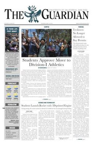 UCSD Guardian - Image: UCSD Guardian front page