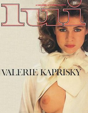 Lui - Cover of the August 1983 issue of Lui, featuring Valérie Kaprisky