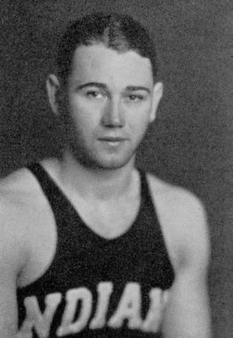 Vern Huffman - Huffman in his Indiana basketball uniform, circa 1936