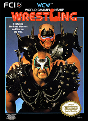 WCW Wrestling - Cover art featuring The Road Warriors