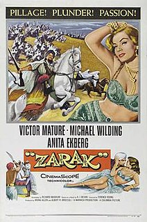 <i>Zarak</i> 1956 British film directed by Terence Young