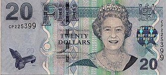 Fijian dollar - Image: 20 FJD obverse 2007