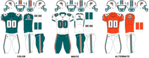 2004 Miami Dolphins season - Image: AFCE Uniform MIA