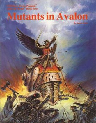 Mutants in Avalon - Front cover of Mutants in Avalon role-playing game sourcebook