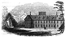 A sketch of a large 17th-century country house