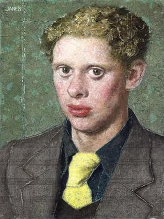 Cultural depictions of Dylan Thomas - Alfred Janes' 1934 portrait of Thomas
