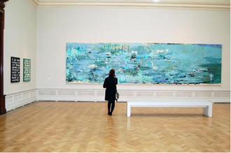 Stephen Farthing - The Atlantic (2006), photographed at the Royal Academy of Arts, December 2010.