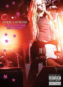 Avril Lavigne The Best Damn Tour – Live in Toronto DVD cover.png