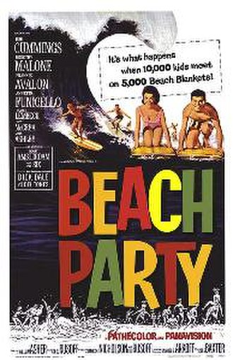 """Beach party film - Beach Party (1963) was the first of several """"beach party"""" films by American International Pictures."""
