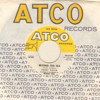 Beyond the Sea (song) - Image: Bobby Darin, Beyond the Sea, ATCO record, A side, 1957