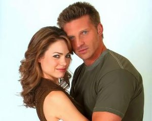 Jason Morgan and Elizabeth Webber - Steve Burton and Rebecca Herbst as Jason and Elizabeth