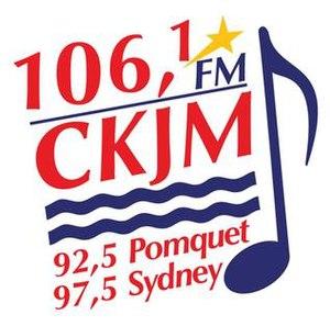 CKJM-FM - Image: CKJM 106,1 92,5 97,5 logo