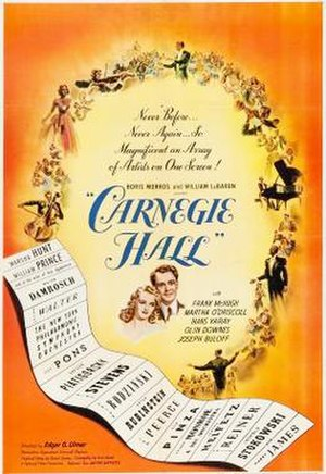 Carnegie Hall (film) - Theatrical release poster