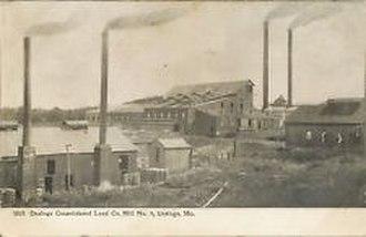 Desloge Consolidated Lead Company - Desloge Consolidated Lead Company crushing mill (top of photo)