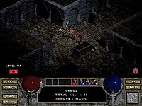 Diablo is an Action-Roleplaying game