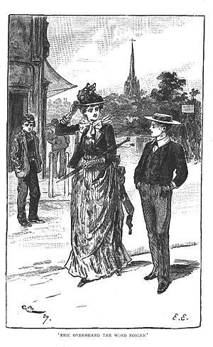 """Gordon Browne - Browne's frontispiece illustration for the 1891 edition of """"Eric, or, Little by Little""""."""