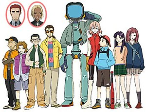 FLCL - The characters of FLCL.