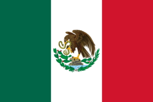 1934 in Mexico - Image: Flag of Mexico 1917