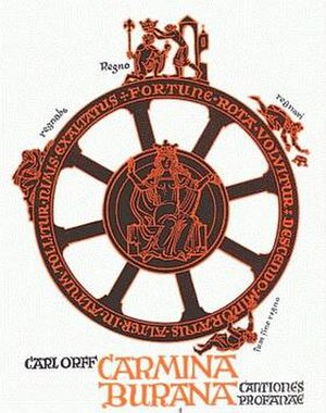 Carmina Burana (Orff) - Cover of the score showing the Wheel of Fortuna