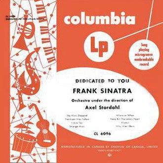 Dedicated to You (Frank Sinatra album) - Image: Frank Sinatra Dedicated to You 1950 Orange cover