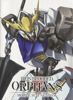 Mobile Suit Gundam: Iron-Blooded Orphans - Cover of the first Blu-ray volume, with an illustration of the ASW-G-08 Gundam Barbatos.