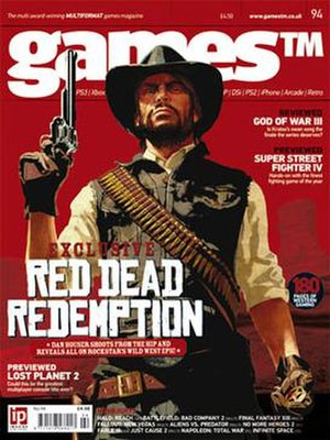 GamesTM - Issue 94 (March 2010) of GamesTM featuring Rockstar's Red Dead Redemption