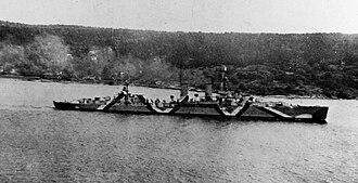 German cruiser Emden - Emden underway in the Oslofjord in late summer 1941